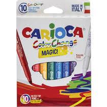 <b>Фломастеры Carioca</b> Color Change Magic 18 цветов 10 шт купить ...