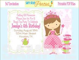 princess birthday invitation cards com princess castle birthday invitation