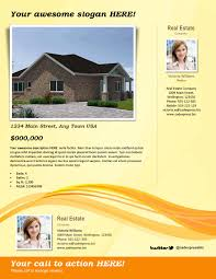 real estate flyer template yellow