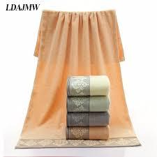 LDAJMW Brand <b>Pure Cotton</b> Bath Towel 70 * 140 <b>Adults Thick</b> Men ...