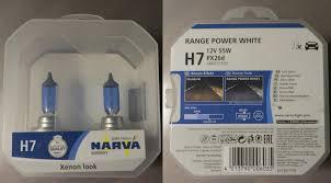 <b>Лампы</b> ближнего света <b>NARVA Range Power</b> White 12V H7 55W ...