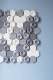 stick wall tiles quotxquot: love these hex concrete wall tiles from kaza flat and dimensional versions feb