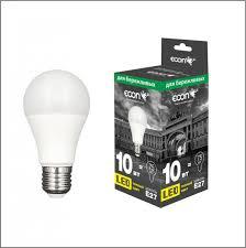 <b>Лампа светодиодная ECON LED</b> A 10Вт E27 3000K A60 ES ...