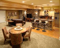 Lodge Living Room Decor Lodge Look Basement Concrete Top Off Your Cabinetry With