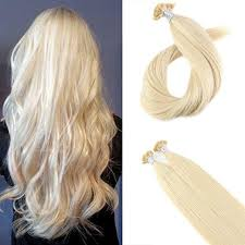 <b>Moresoo</b> 50g Flat <b>Tip</b> In Bleach Blonde #613 Keratin Remy Human ...