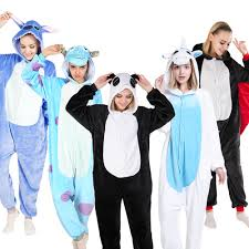 Adult Animal Pajamas Anime Cartoon Onesies Panda <b>Funny Hood</b> ...