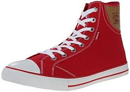 Levis <b>Men's</b> Hamilton <b>Buck</b> Fashion Sneaker, Red/Brown, 12 M US