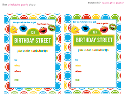 sesame street birthday party invitation templates benjamin s st sesame street birthday party invitation templates