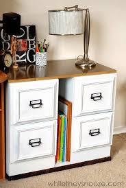 cabinet makeover rid diy metal file cabinet makeover add a longer top to transform into a d