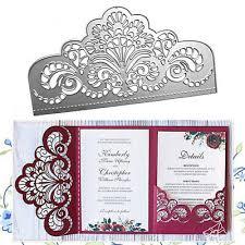 Crown <b>Lace Metal</b> Cutting Dies Die Cut Wedding Dies Invitation ...