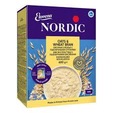 <b>Хлопья Nordic</b> (<b>Нордик</b>) овсяные с пшеничными отрубями, 600 гр ...
