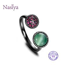 2019 <b>NASIA 925 Sterling Silver</b> Ring For Women Adjustable ...