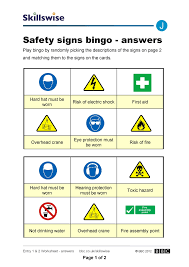 printables safety signs worksheets thousands of printables safety signs worksheets safety signs bingo construction bingo