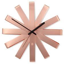 <b>Часы настенные ribbon медь</b> от Umbra (Канада), артикул ...