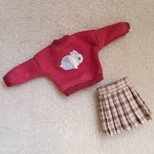 <b>2pcs</b>/<b>set</b> Blyth Clothes Rabbit Sweater+Pleated Skirt for Blyth Doll ...