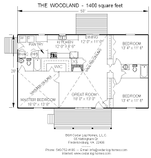 Log Home Floor Plan   The Woodland  square feet  by B amp H Cedar      k  Floor plans for our model  The Woodland