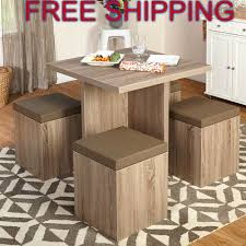Kitchen Space Saver Kitchen Nook Dining Set Space Saving Table 4 Chairs Storage