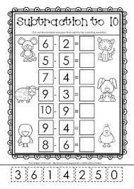 Free worksheets, Worksheets and Cut and paste on PinterestCut and Paste Subtraction to 10 Free worksheet!