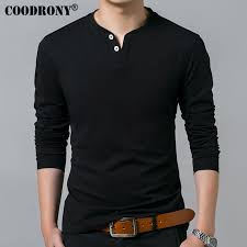 <b>COODRONY T Shirt Men</b> 2019 Spring Autumn New Long Sleeve ...