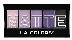 L.A. <b>Colors Matte Eyeshadow Palette</b>, Purple Cashmere - Walmart ...