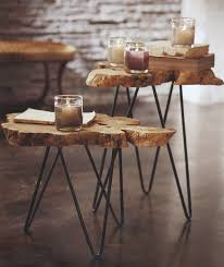rustic end tables end tables and tree trunks on pinterest awesome tree trunk table 1
