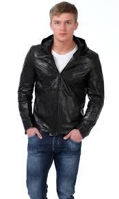 <b>Кожаные</b> мужские <b>куртки с капюшоном</b>: на меху, модные образы