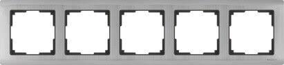 <b>Рамка Werkel Metallic</b> на 5 постов глянцевый никель WL02-Frame ...