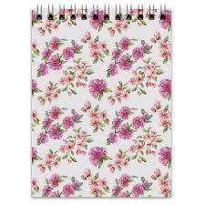 "Блокнот ""Цветочный узор <b>сакура</b> и цветы яблони"" #2724515 от ..."