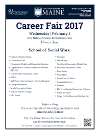 umaine career fair career center university of maine social work