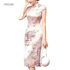 2019 <b>New Chinese Dress</b> Female <b>Qipao</b> Midi Style Cheongsams ...