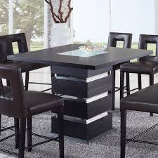 frosted dining table amazoncom global furniture dining room set frosted wenge table amp cha