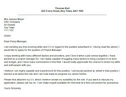 Project Management Cover Letter   My Document Blog     project manager cover letter dayjob