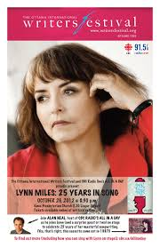 Lynn Miles will be appearing at the Ottawa Writers Festival on October 26 - LynnMiles-Poster