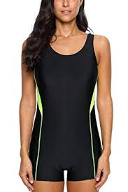 <b>CharmLeaks Women's</b> Boyleg <b>One Piece</b> Sports Swimming Costume