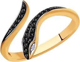 Золотое открытое <b>кольцо</b> ''<b>Змея</b>'' <b>SOKOLOV</b> 7010065_s с ...