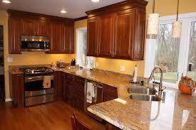 wall color ideas oak: dark brown cabinets in kitchen cabinets dark countertops kitchen