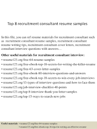 top  recruitment consultant resume samplestop  recruitment consultant resume samples in this file  you can ref resume materials for