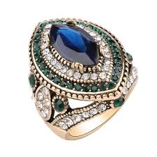 2019 Luxury <b>Vintage</b> Jewelry <b>Big Wedding Rings</b> For Women Gold ...