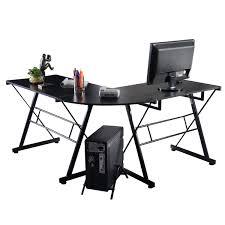 computer desk black home office laptop