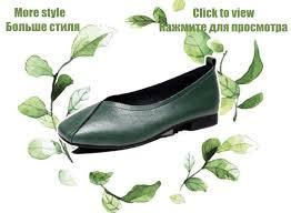 <b>AIYUQI Women's flat shoes</b> 2019 genuine leather female peas ...