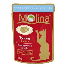 Влажный корм (<b>пауч</b>) для кошек <b>Molina</b> Тунец в желе