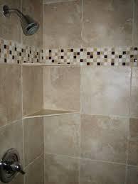 feature tiles bathroom pinterest interior bathroom beige granite shower wall panel combined with glass mosaic subway bathroom pendant lighting ideas beige granite