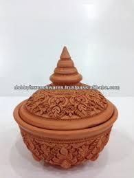 <b>Thailand</b> Handmade Carved Natural Medium <b>Clay</b> Food Blow / <b>Thai</b> ...