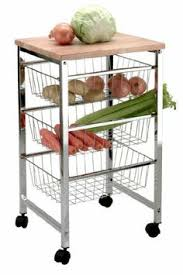 kitchen trolley ref  basket fruit and vegetable rack kitchen trolley with a wooden top cho