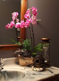 day orchid decor: vintage vintage inspired bathroom orchids vintage