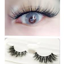 Mink 3D False Eyelashes Handmade Transparent Stem Natural ...