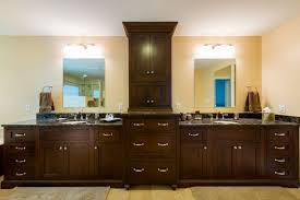 f beautiful bathroom lighting ideas of double vanity modern with dark brown varnish wooden large cabinet using chrome metal pulls hardware 3000x2003 beautiful bathroom lighting ideas