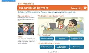 what s new supported employment website