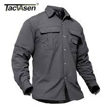 TACVASEN <b>New Men's</b> Army Clothing Spring <b>Military</b> Shirt Quick ...