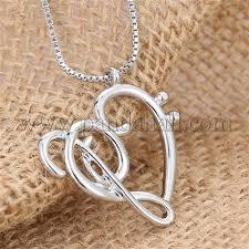 Wholesale <b>Creative</b> Heart and <b>Musical Note</b> Alloy Pendant ...